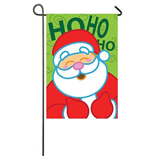 Santa Evernote Fiber Optic Hohoho Garden Flag