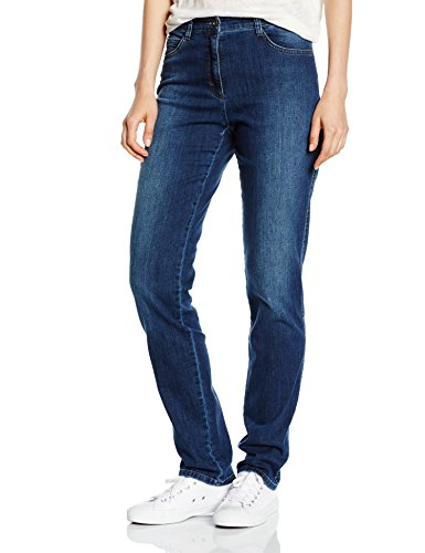 Brax Damen Straight Leg Jeanshose 70-3000, CAROLA, Gr. W34/L32 (Herstellergröße: 44), Blau (USED REGULAR BLUE 25)