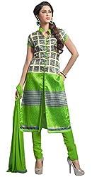 The Desi Attire Women's Bhagalpuri Silk Unsticthed Dress Material (2003_Cream_36)