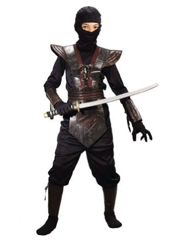 Ninja Fighter Leather Md Child Kids Boys Costume