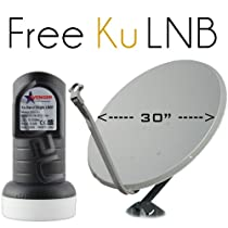 "30"" FTA Satellite Dish 76cm for HD TV with Ku Linear LNB"