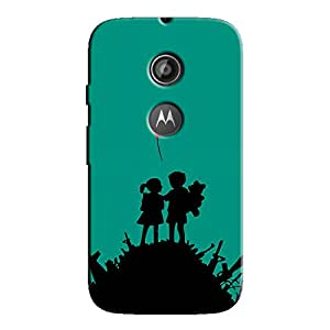 CHILDREN BALLON ART BACK COVER MOTOROLA MOTO E2