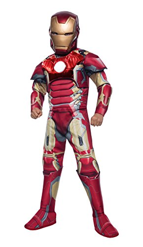 Iron Man Deluxe - Rächer Alter von Ultron - Kinder-Kostüm - Large - 147cm