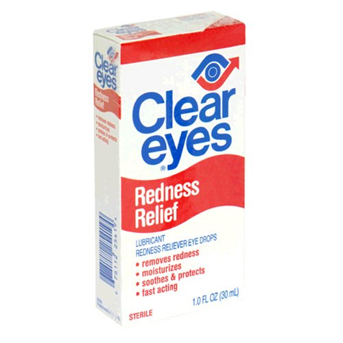 Clear Eyes Redness Relief Lubricant Redness Reliever Eye Drops, 1.0 fl oz (30 ml) (Pack of 3)
