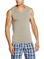 COTONELLA Look&Trend Camiseta sin mangas x 2 (Gris Jaspeado)