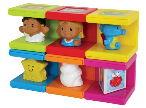 Safety First Cubikals Stack 'n Play 6 Block Set - Beach Set 3 - 1