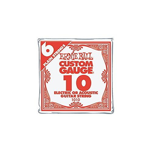 Ernie Ball Nickel Plain Single Guitar String .010 6-Pack (Single Electric Guitar Strings compare prices)