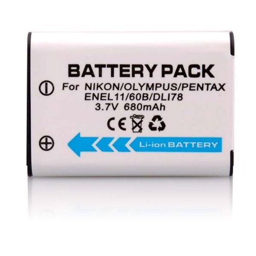 3.70V,680mAh,Li-ion,Replacement Digital Camera Battery for NIKON Coolpix S550, Coolpix S560,PENTAX Optio L50, M50, M60, Optio V20, Optio W60, Optio W80,RICOH R50,SANYO Xacti VPC-E10,OLYMPUS FE-370,Compatible Part Numbers:EN-EL11,D-LI78,DB-80,DB-L70,LI-60B,
