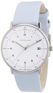 Junghans 047/4254.00 - Reloj analógico de cuarzo para mujer con correa de piel, color azul