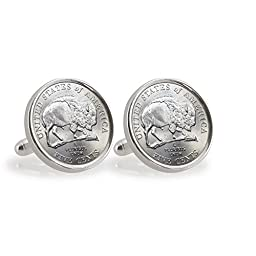 2005 Bison Nickel Sterling Silver Cufflinks