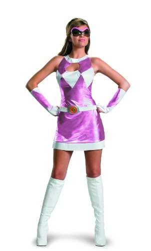 Power Rangers Pink Ranger Deluxe Costume w/Goggles & Glovelettes Adult