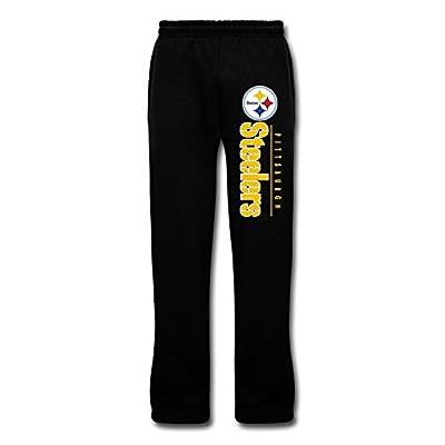 Duola Men's Running Pants Pittsburgh Steeler Logo Black