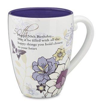 Mark My Words 50Th Birthday Mug, 4-3/4-Inch, 17-Ounce Capacity front-431198
