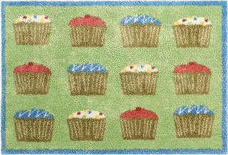 Turtle Mat Cupcake Design 60x85cm Multi-Grip Backing