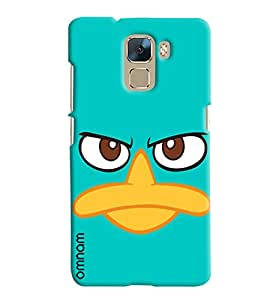 Omnam Duck Pattern Printed Designer Back Cover Case For Huawei Honor 7