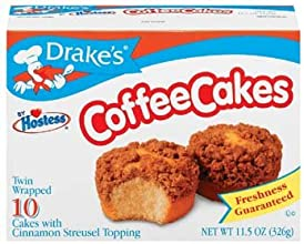 Drake39s by Hostess 10 ct Coffee Cakes with Cinnamon Streusel Topping 115 oz