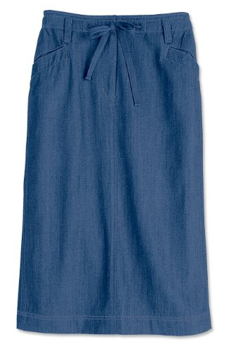 Tencel-blend Drawstring Skirt / Tencel-blend Drawstring Skirt, Denim, 6