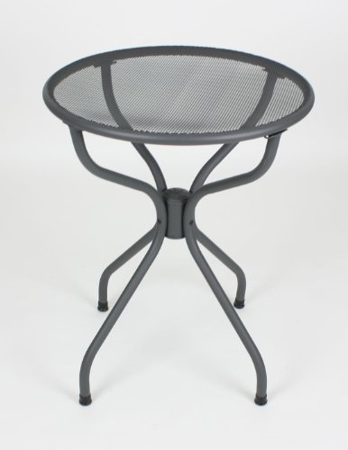 All-weather Metal Patio Table - Silver Powder Coated (Round 24)