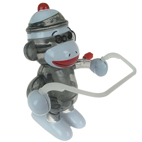 California-Creations-Sock-Monkey-Skippy-Windup-Toy