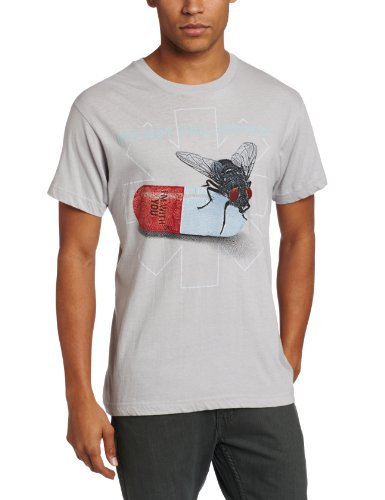 Bravado Men's Red Hot Chili Peppers Fly Prints T-Shirt, Grey, X-Large (Bravado Chili compare prices)