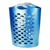 Rubbermaid FG-260004-ROYBL Flex N Carry 2.2 Bushel Laundry Hamper, Royal Blue - Manufacturer: Rubbermaid