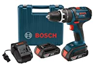 Bosch HDS181-02 18-Volt Lithium-Ion 1/2-Inch Compact Tough Hammer Drill Driver with 2 High Capacity Batteries, Charger and Case from Bosch