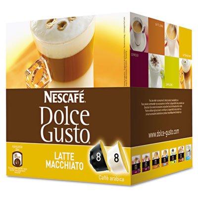Coffee Capsules, Latte Macchiato, 2.01Oz, 16/Box, Sold As 1 Box front-418173