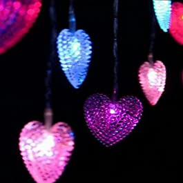 Ch&Ch Lampada a forma di cuore 4m 20-LED Matrimonio Room Decoration accessori decorativi