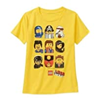 LEGO Movie Characters Boys Glow in the Dark Shirt (Large (10/12))