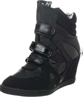 Penny Sue Women's Jeri Fashion Sneaker,Black Patent,6 M US