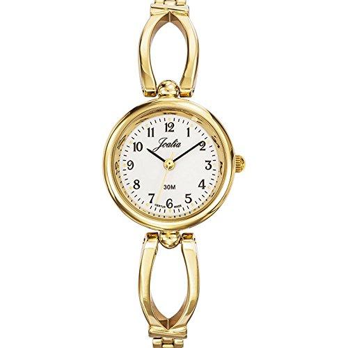 Joalia-631877-Orologio da donna con cinturino quadrante, in metallo dorato