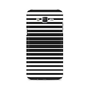 Ebby Black and White Stripes Premium Printed Case For Samsung J1 Ace