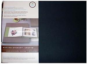 """EK Success Martha Stewart Crafts Black Fits 11 x 8.5"""" Pages Scrabooking Post Bound Album"""