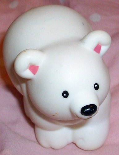 Buy Low Price Mattel Fisher Price Little People White Polar Bear Replacement Figure Doll Toy (B0025JIZ2O)