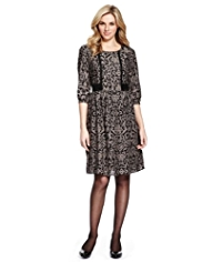 M&S Collection Lace Insert Floral Dress