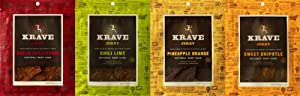 Krave Beef Jerky Mixed Pack (4x3.25oz) from Krave