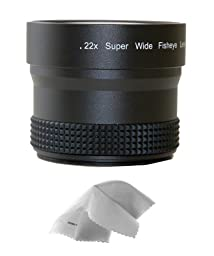 Sony Cybershot DSC-F717 0.21x-0.22x High Grade Fish-Eye Lens + Nwv Direct Micro Fiber Cleaning Cloth