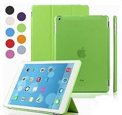 Elite Ultra Thin Smart Flip Foldable Flip Case cover Apple iPad Air 2 (iPad 6) Tablet with Glittering stylus (Sleep/wakeup) (Green)