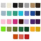 Wholesale Lot of 10 Mens Solid Color Pocket Squares
