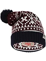 Tokyo Laundry Unisex Penda Jaquard Pattern Knitted Winter Bobble Hat