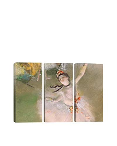 Edgar Degas Dancer On The Stage 3-Piece Canvas Print