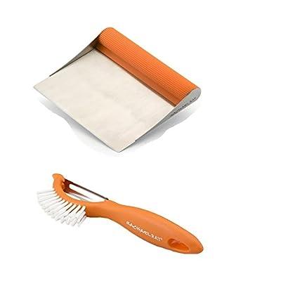 Premier Rachael Ray Scraper Shovel Spatula Set with Bonus 3-in-1 Veggie Peeler and Brush.