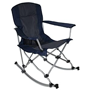 Set Of 4 MAC Sports Outdoor Folding Rocking Chair In Blue Kit