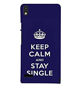 printtech Stay Single Quotes Back Case Cover for Huawei Google Nexus 6P