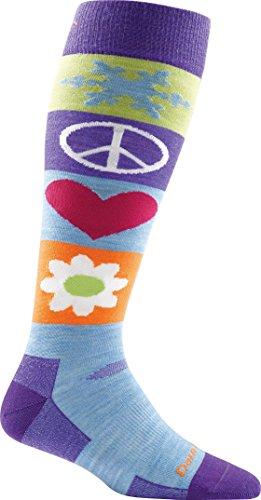 Darn Tough Peace Love Snow Ultra Light OTC Sock - Women's Majesty Medium