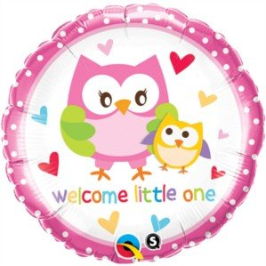 "Pioneer Balloon Company Welcome Little One Owls, 18"", Multicolor - 1"