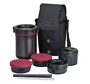 THERMOS Hot Lunch Heat-Retention Lunch/Bento Box Set JBE-1600F (japan import)