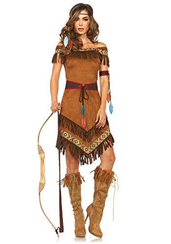 Women's 4 Pc Native Princess Costume