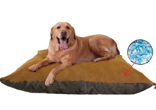 Sudan-Brown-Jumbo-XXXL-54X47-Orthopedic-Micro-Cushion-Memory-Foam-Pet-Bed-Pillow-for-XLarge-dog-with-2-external-cover-Waterproof-Internal-cover