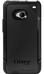 OtterBox Commuter Series Two-Layer Protection Case Cover with Screen Protector for HTC One - Black